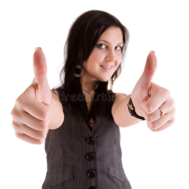 Girl Showing Thumbs Up Stock Photo
