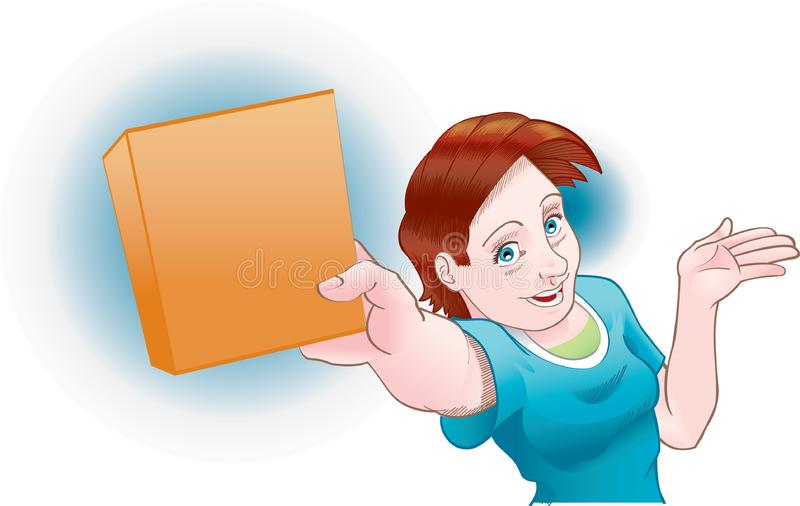 Download Girl shows product stock vector. Illustration of excited - 15327481