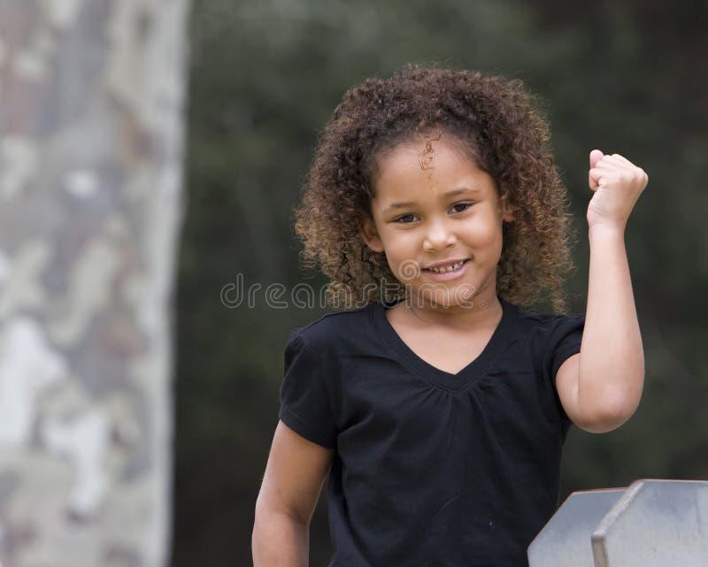 Girl signaling Success stock images