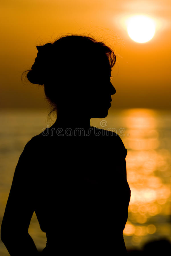 Download Girl Silhouette stock photo. Image of quiet, over, gulf - 18698348