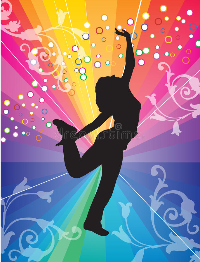 Girl silhouette. Vector illustration of girl silhouette stock illustration