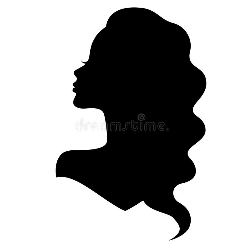 girl silhouette with beautiful hair stock vector illustration of rh dreamstime com clipart girl silhouette girl scout silhouette clip art