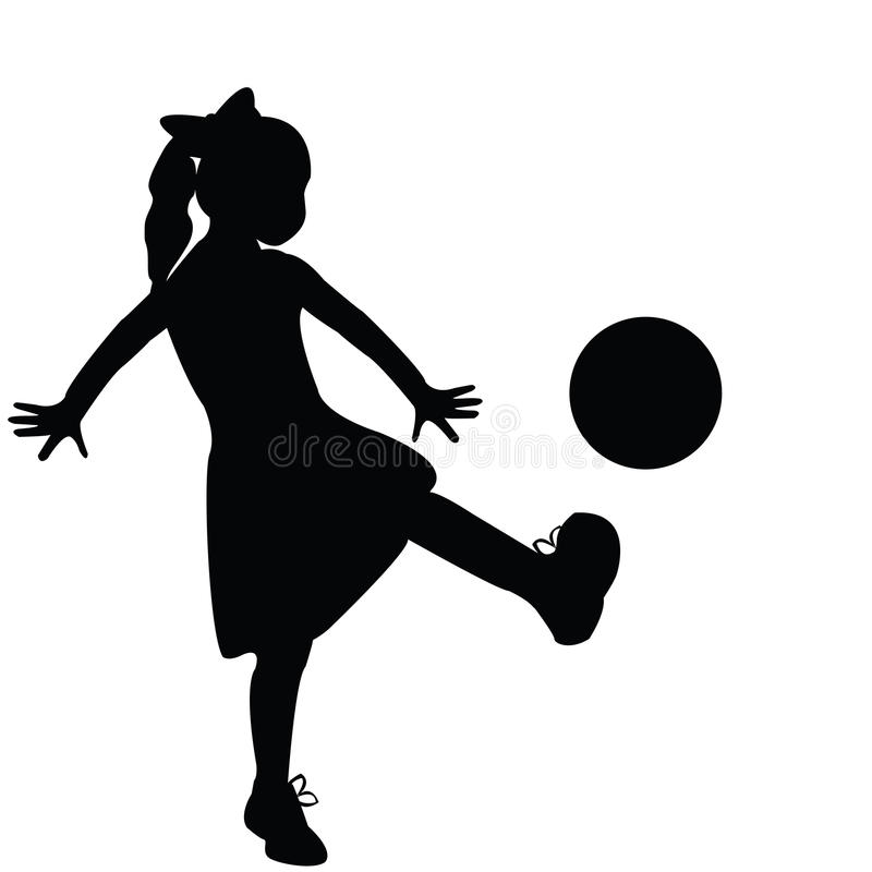 Download Girl silhouette playing stock illustration. Illustration of colors - 13146905