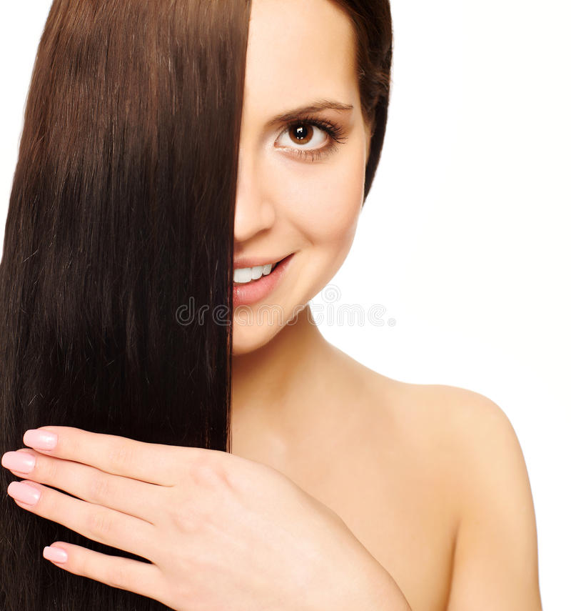 Download Girl With Silky Hair Royalty Free Stock Photo - Image: 12172685