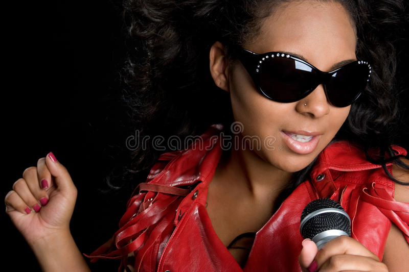 Girl Singing royalty free stock images