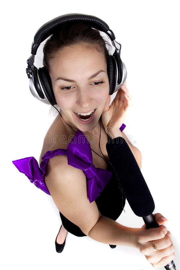 Download Girl singing stock photo. Image of attractive, microphone - 20969012