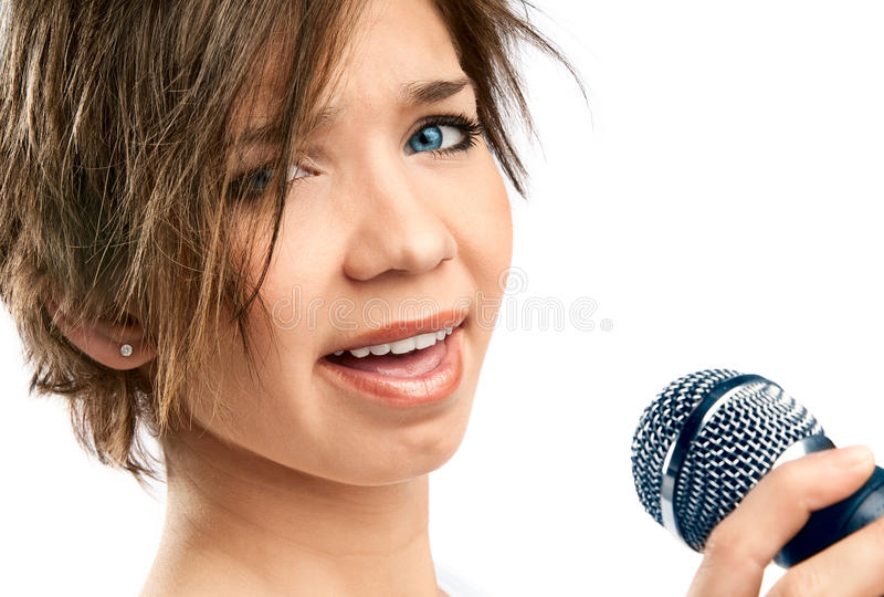 Girl Singing. royalty free stock images
