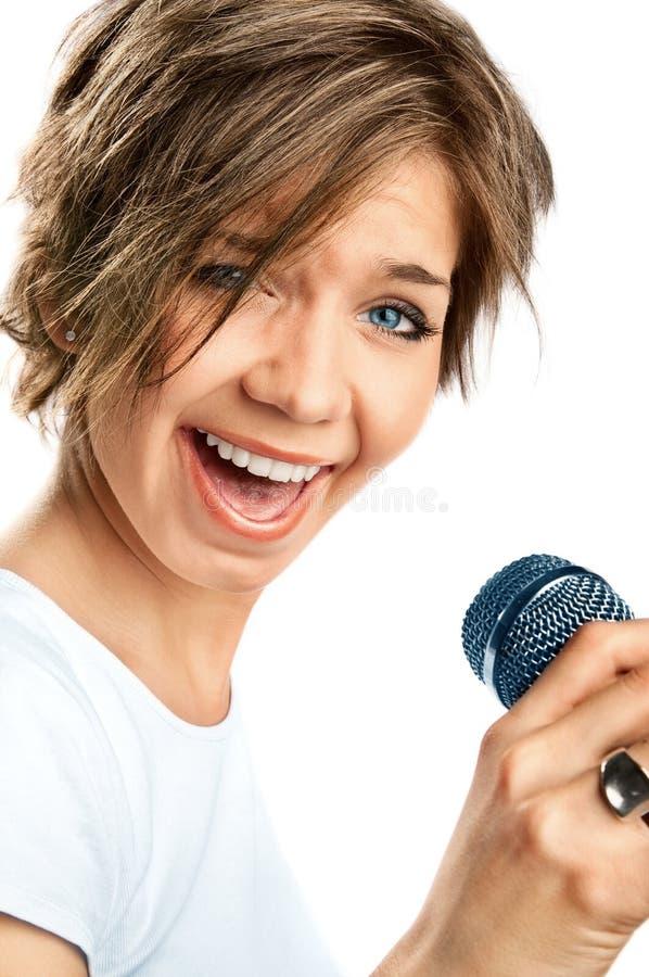 Girl Singing. stock photos