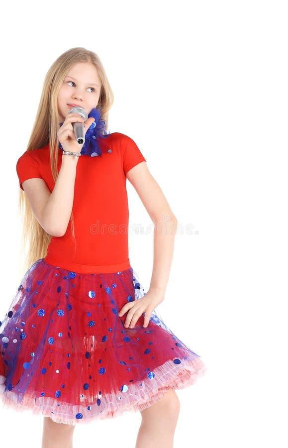 Girl singing stock images