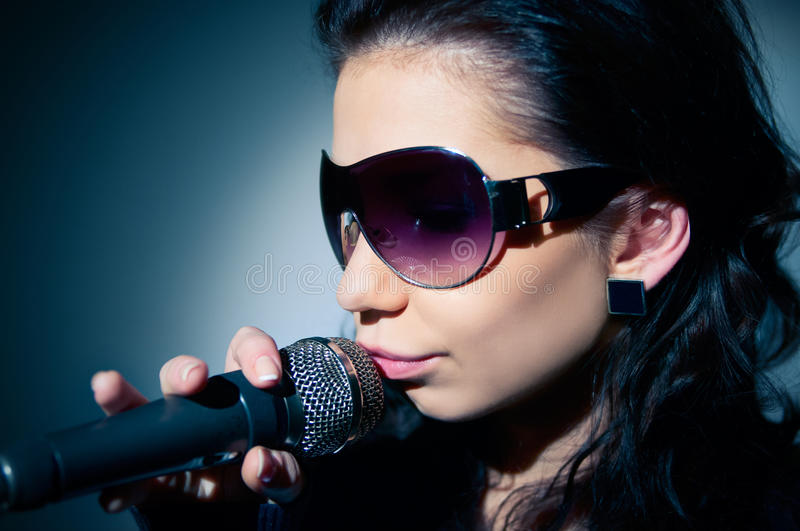 Girl Singing stock photography