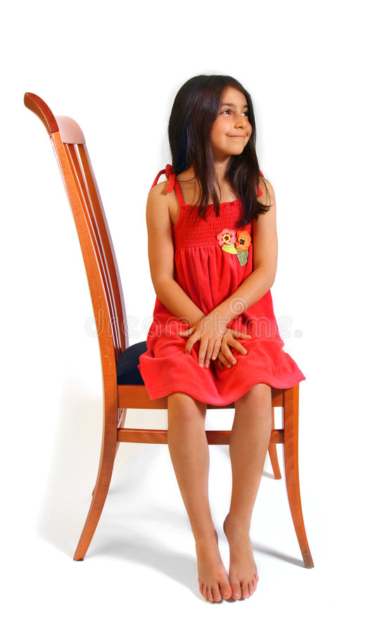 Download Girl sitting stock photo. Image of enjoying, hair, child - 5929358