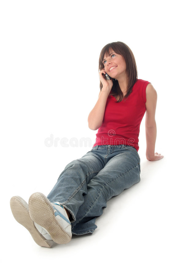 Girl sitting royalty free stock photography