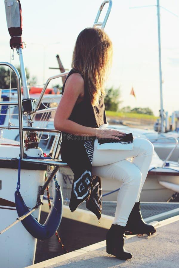 Girl Sitting On The Boat Free Public Domain Cc0 Image