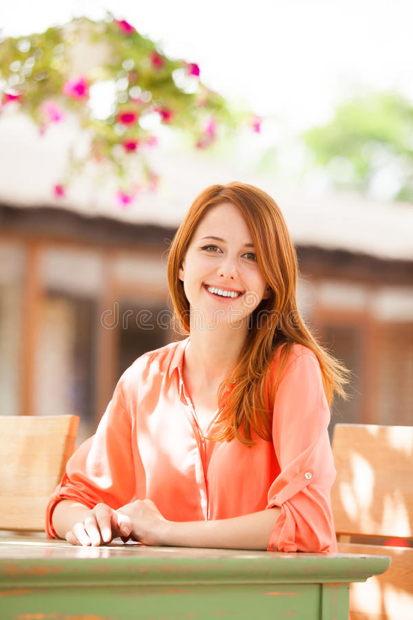 Download Girl sitting in the cafe stock image. Image of girl, person - 31407773