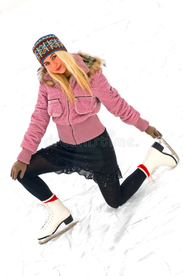 Girl on skates royalty free stock image