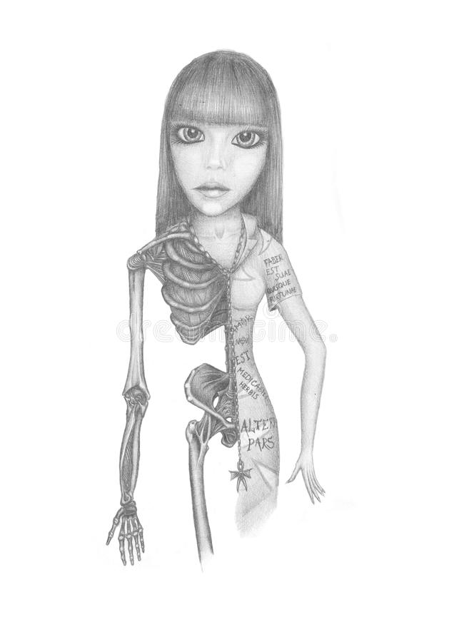 Free Girl-skeleton Royalty Free Stock Image - 23526916