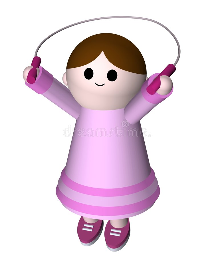 Girl Skipping Stock Image