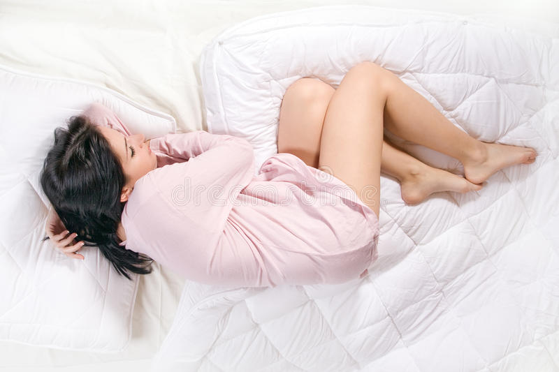 Download Girl sleep in bed stock photo. Image of person, dream - 27527948