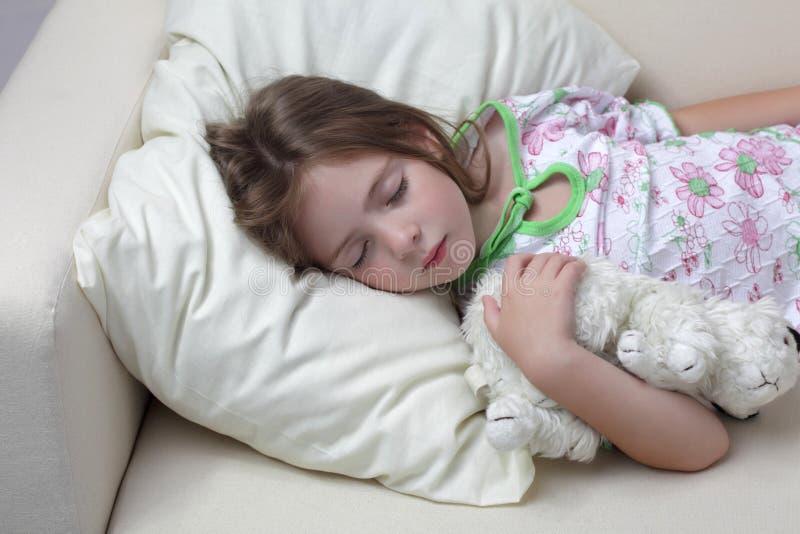 Download Girl sleep on sofa stock image. Image of tired, casual - 24553965