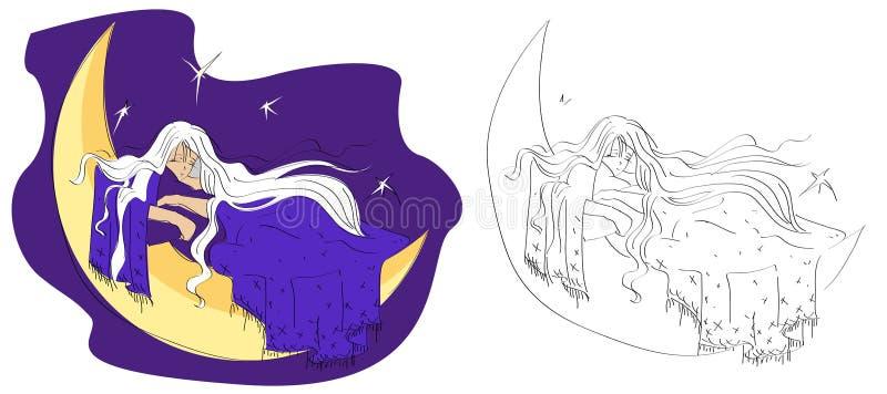Download Girl sleeping dream stock vector. Image of night, sleeping - 17490741