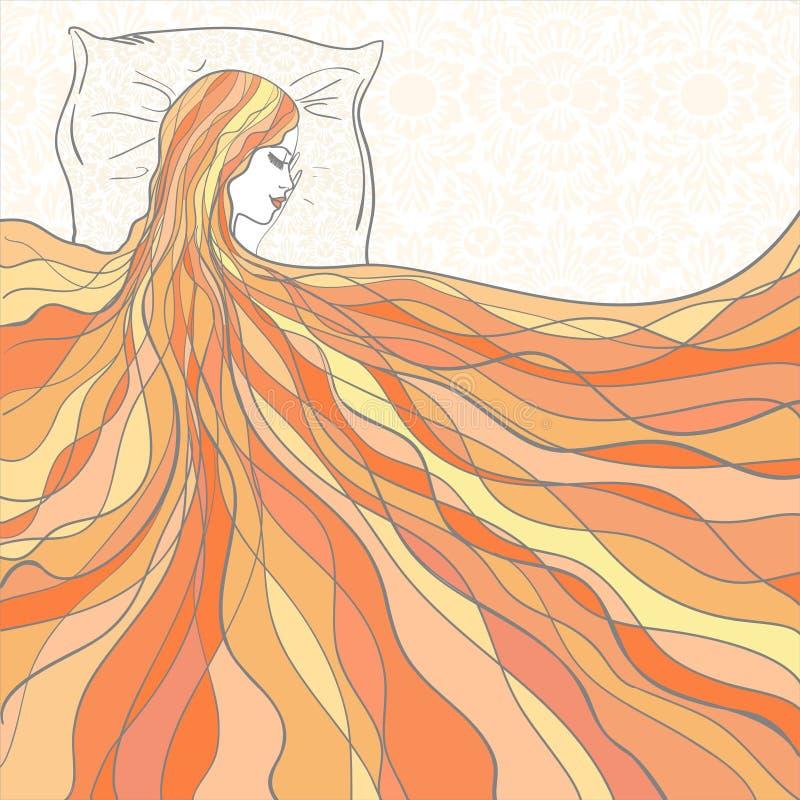Download Girl sleeps stock vector. Illustration of blank, face - 26270611