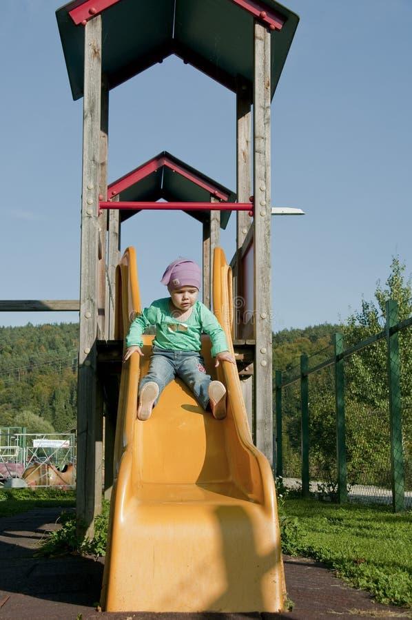 Girl on a slide