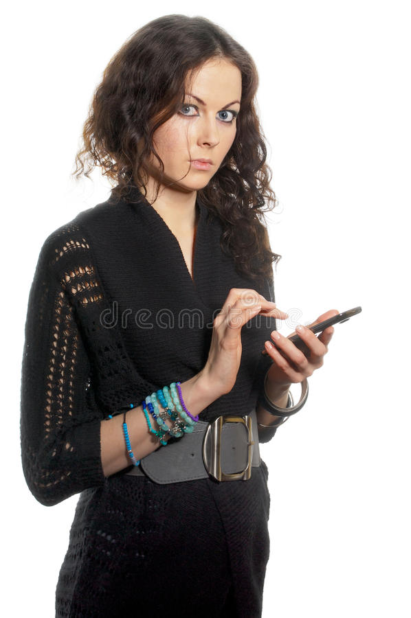 Download Girl with smartphone stock image. Image of adult, people - 29010337