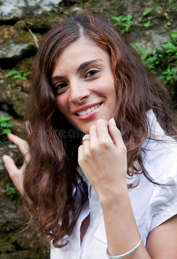 Download A Girl Smiles With Optimism Royalty Free Stock Image - Image: 15547456