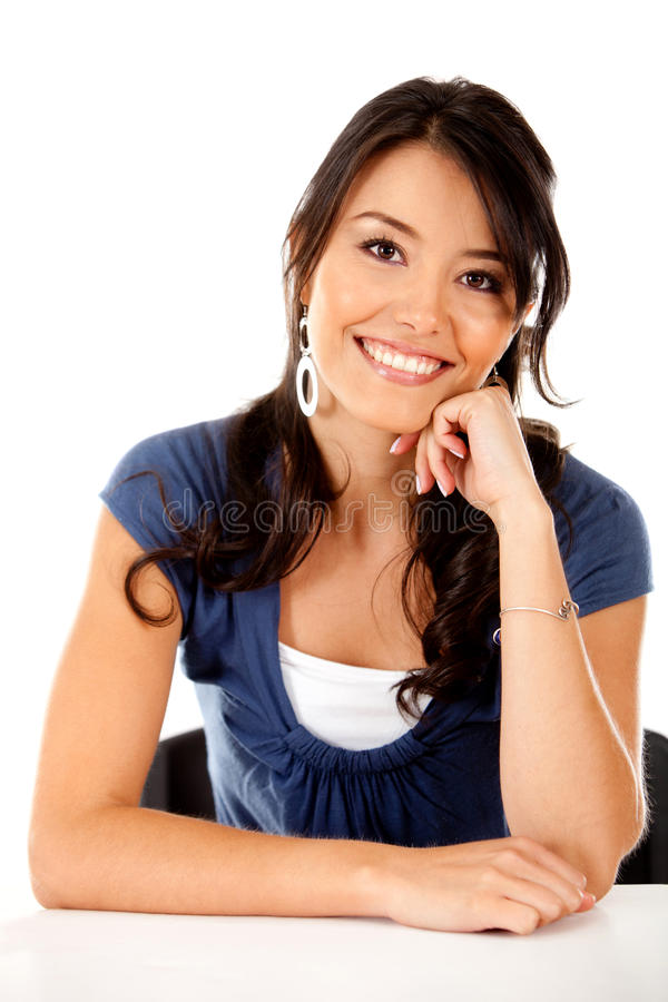 Download Girl smiling stock image. Image of isolated, cheerful - 21562229