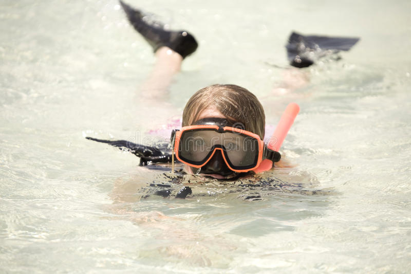 Download Girl snorkeling in ocean stock image. Image of ocean - 11039327