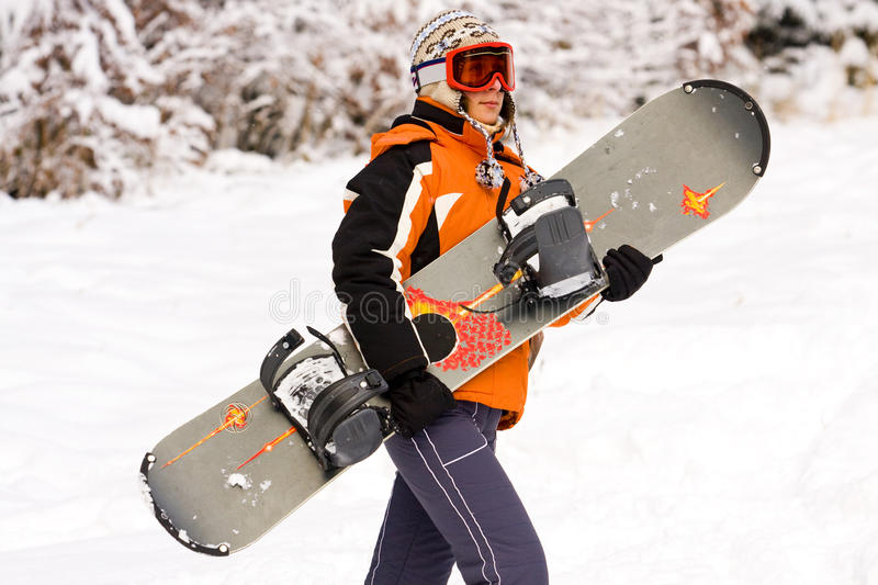 Download Girl - snowboarder stock photo. Image of beauty, extreme - 17438116