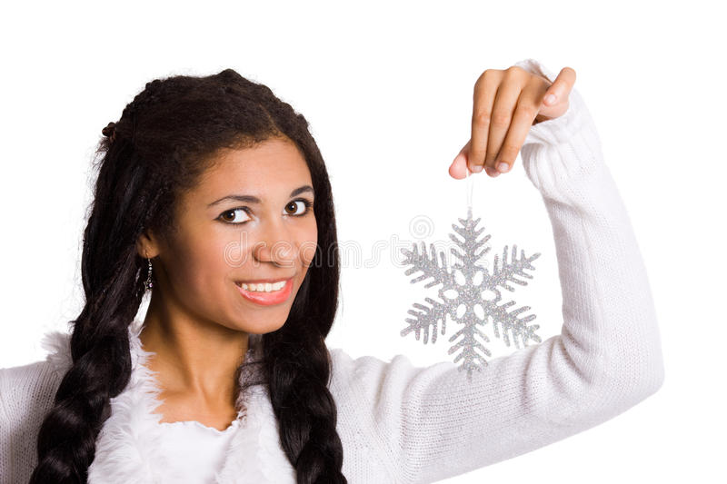 Download Girl with snowflake stock photo. Image of cute, lips - 11611774