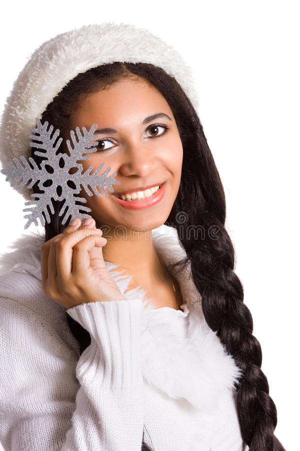 Download Girl With Snowflake Royalty Free Stock Photography - Image: 11611837