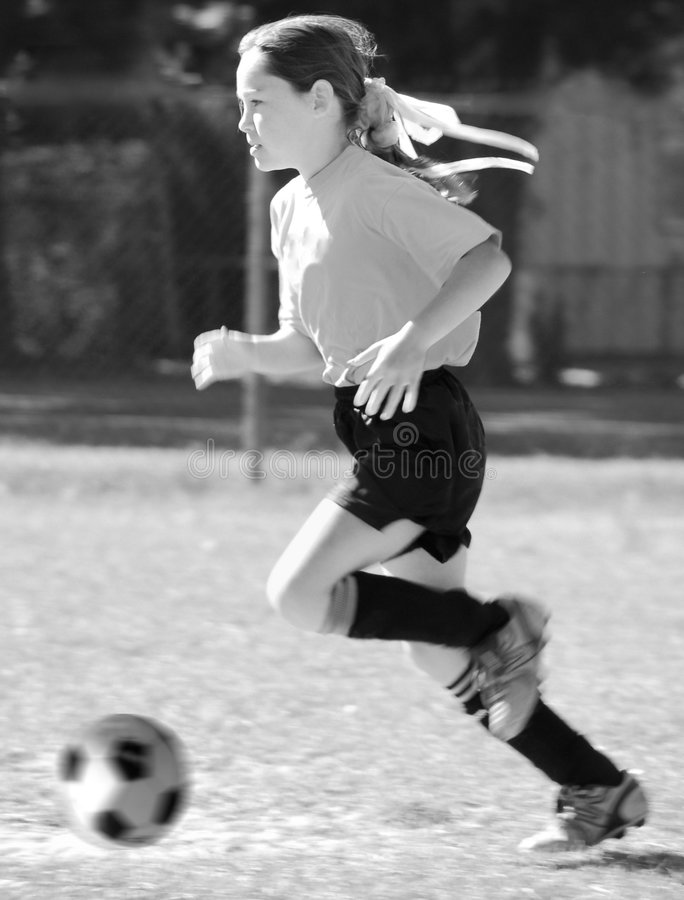 Download Girl soccer player stock image. Image of cute, pass, child - 7428781