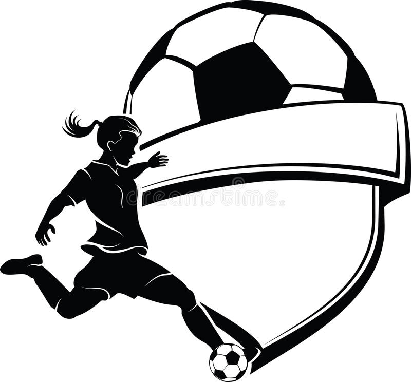 Download Girl Soccer Shield stock vector. Illustration of soccer - 26589988