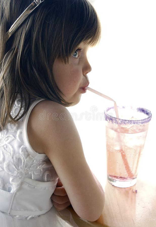 Girl with Soda stock images