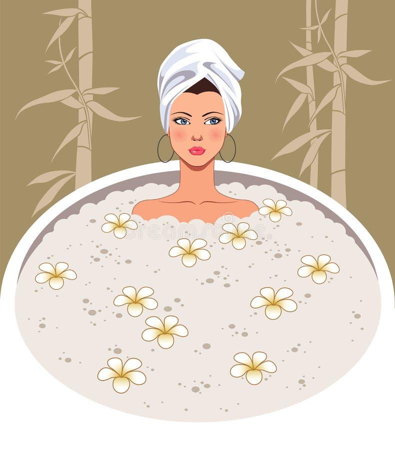 girl spa διανυσματική απεικόνιση