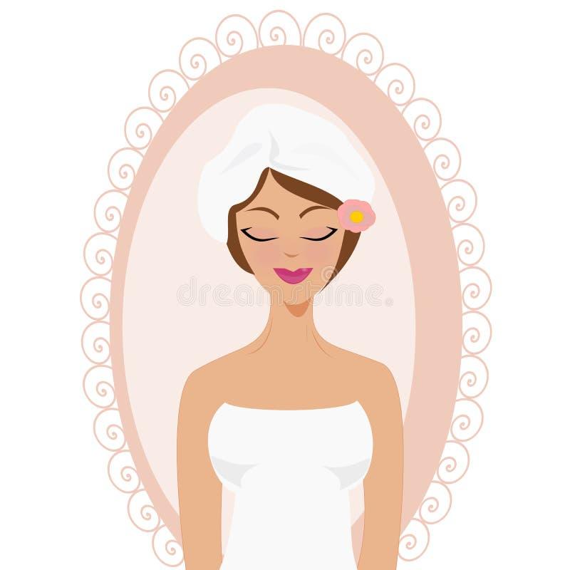 Girl in spa stock photo