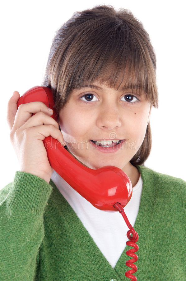 Free Girl Speaking On The Telephone Stock Photography - 4626402