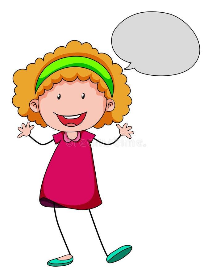 Girl Speaking Stock Vector Illustration Of Cartoon Alone