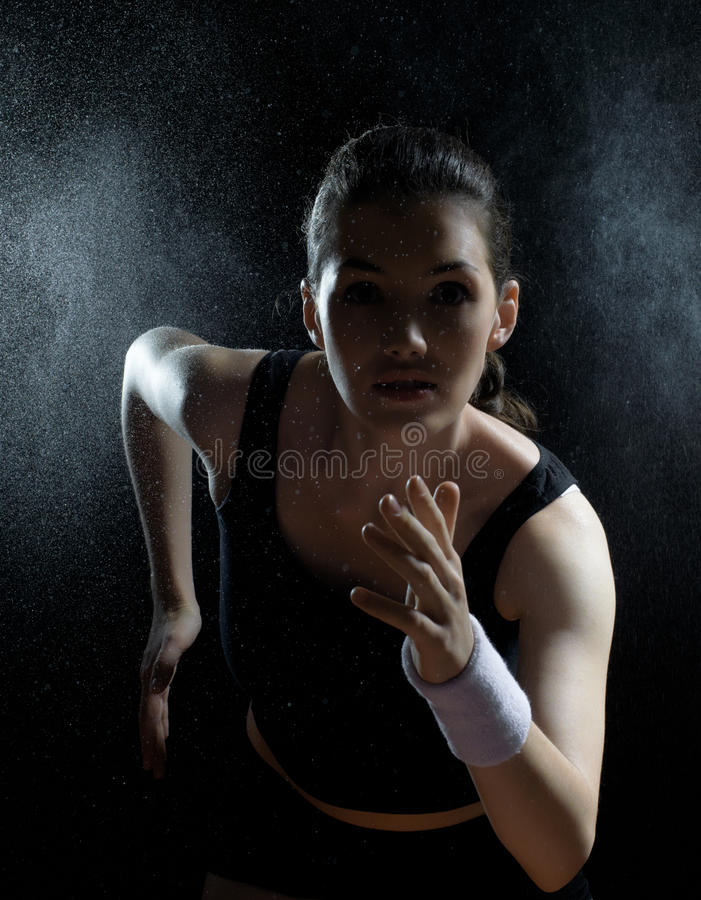 Girl in sport stock photo