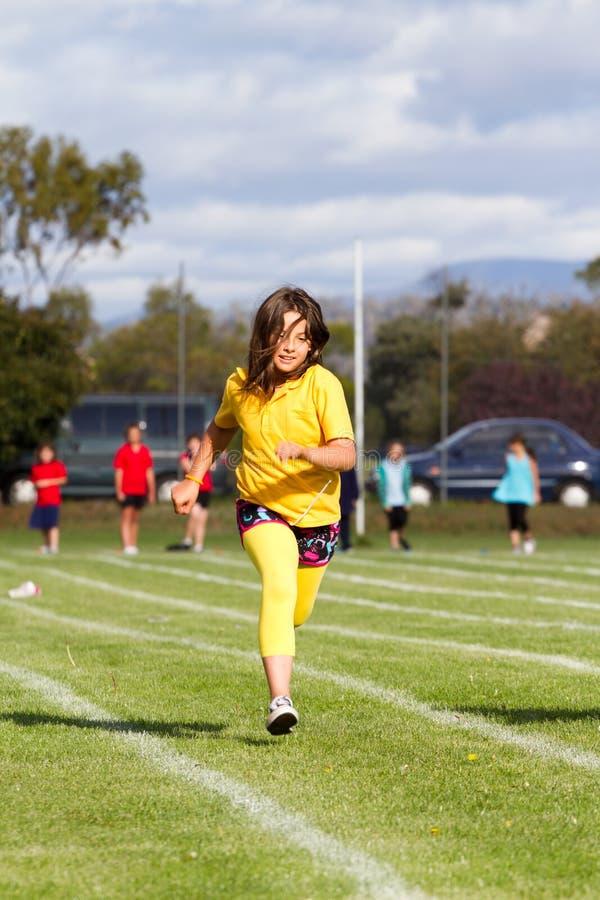 Girl in sport race stock photos