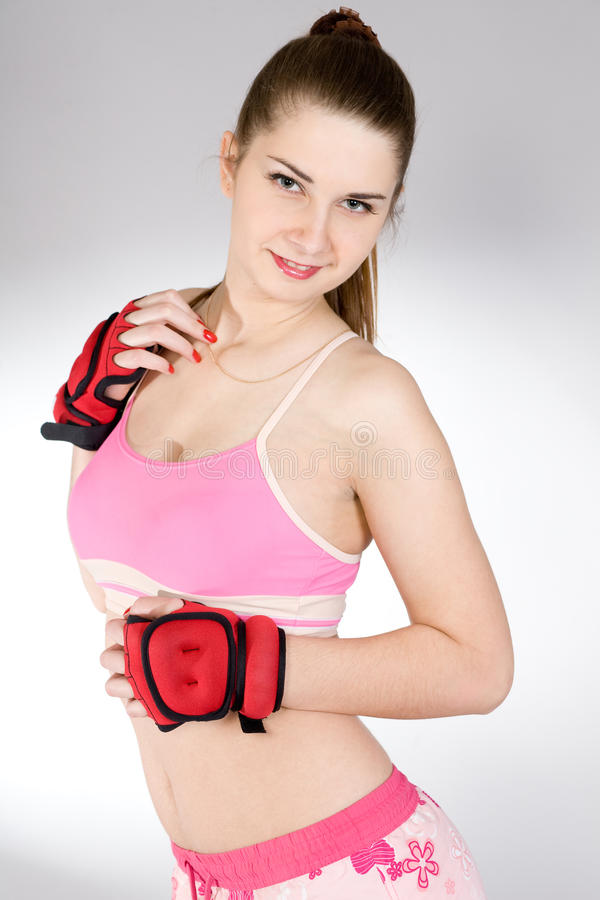 Download Girl in the sports form stock image. Image of medicine - 12701249
