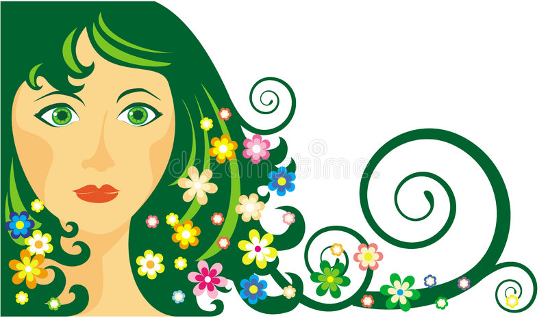 Download Girl-spring stock vector. Illustration of fashion, females - 4002165