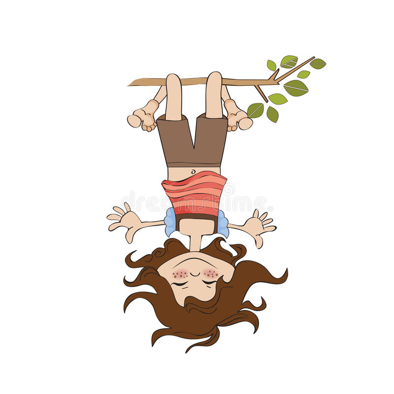 Download Girl Standing With Her Head Hanging Down Stock Illustration - Image: 24600031