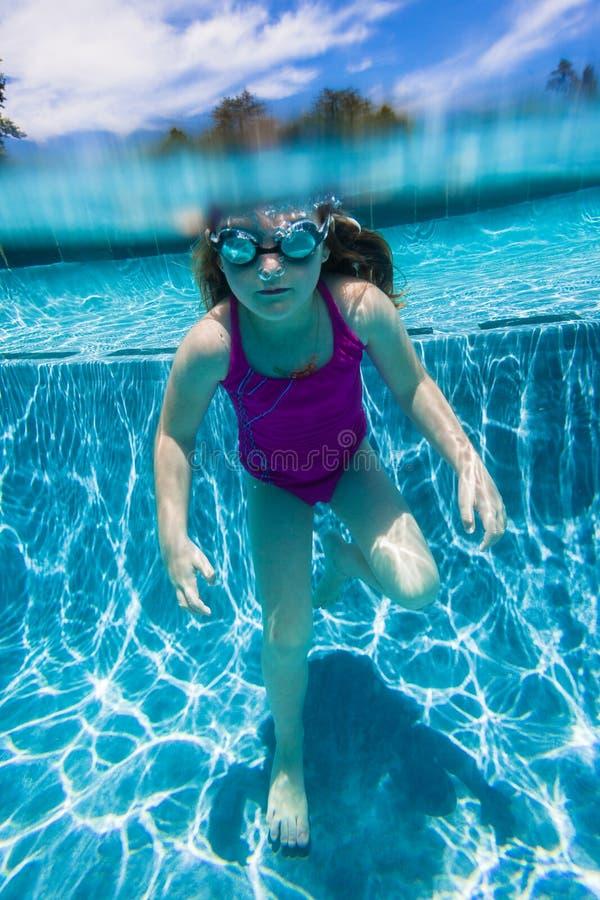 Download Girl Standing Underwater stock image. Image of swimming - 28749135