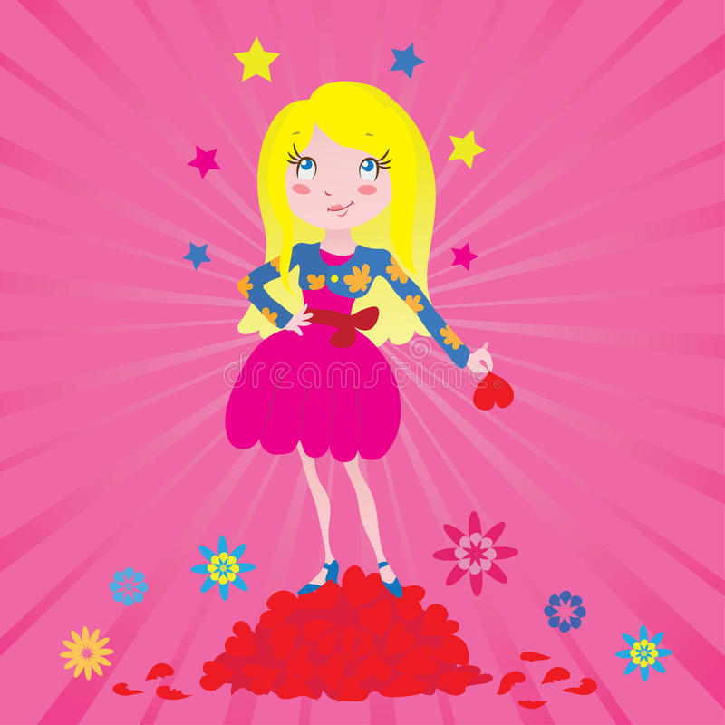 Download Girl Star Of Love Royalty Free Stock Photo - Image: 22270245