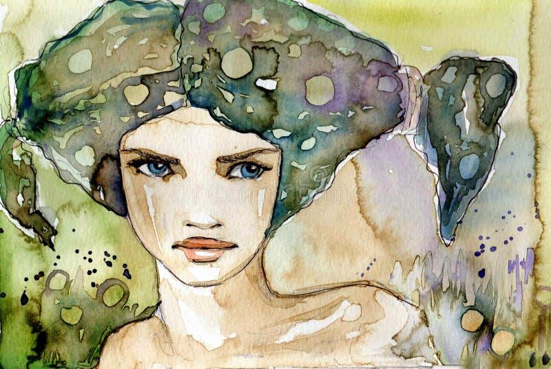 Download Girl staring stock illustration. Illustration of fantasy - 23645315