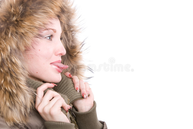 Download The Girl Sticks Her Tongue Out Stock Photo - Image of facial, young: 3722080