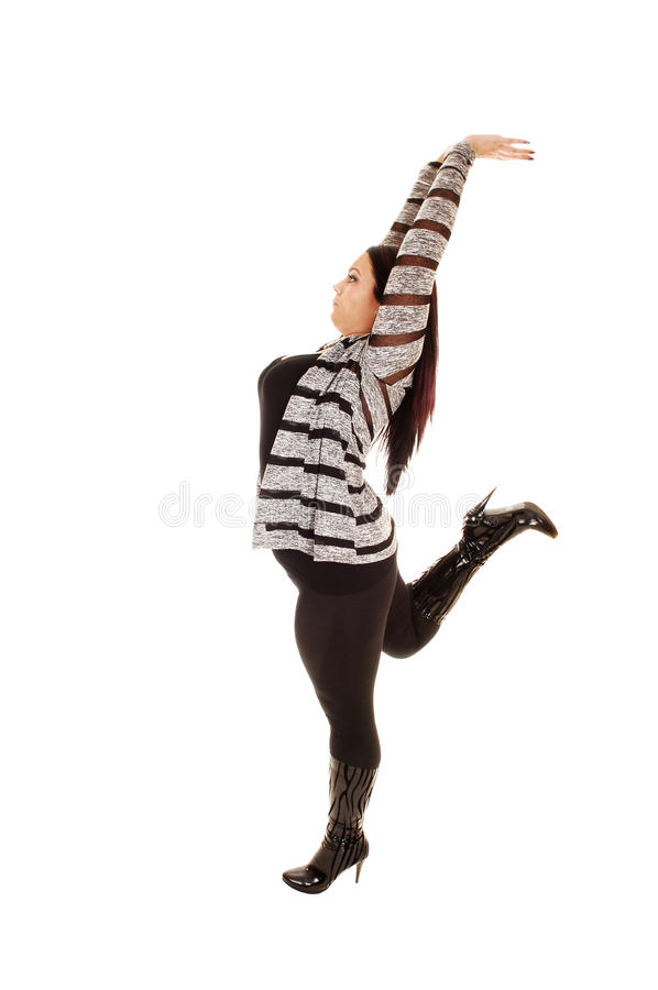 Download Girl stretching her arms. stock photo. Image of posing - 27228084